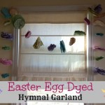 Easter Egg Dyed Hymnal Garland
