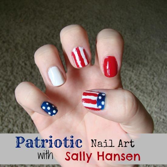 Patriotic Nail Color Blocking Art with Sally Hansen #Iheartmynailart ...