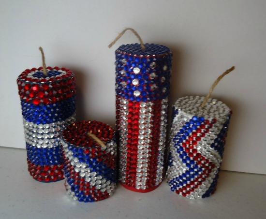 jeweled fireworks decoration