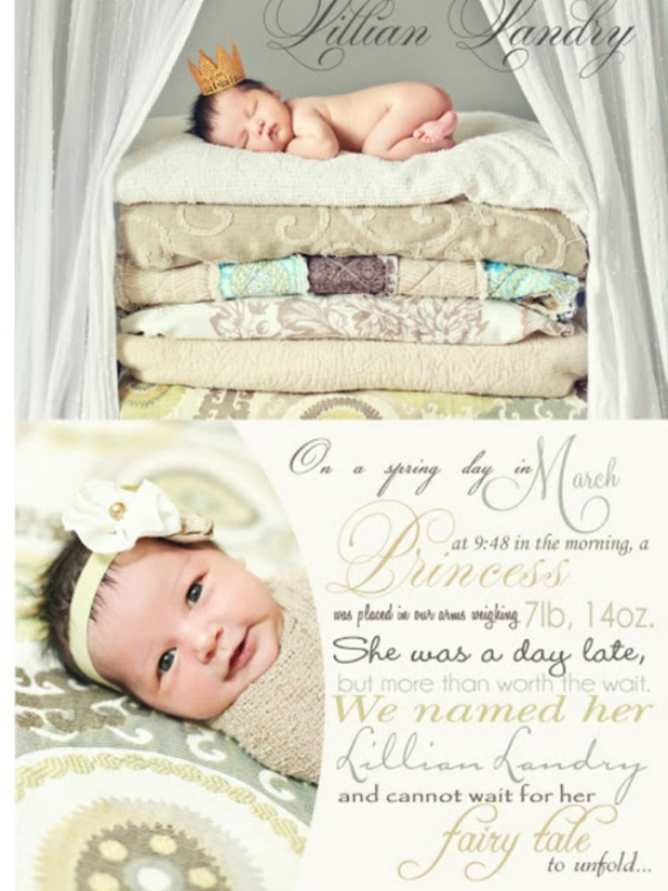 20 of the Best Baby Birth Announcements Brittany Estes – Baby Announcement Wording Ideas