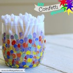 DIY Painted Confetti Glasses
