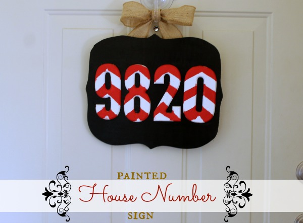 Painted House Number SIgn