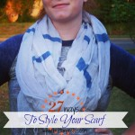 Happy Birthday FashionABLE! (Scarf Styling Tutorial and more!)