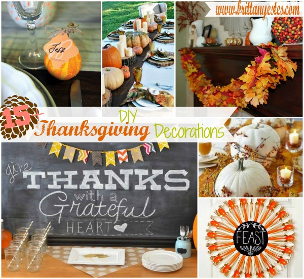 Diy thanksgiving decorations brittany estes