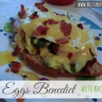 BLT Eggs Benedict with Avocado #loveavocado
