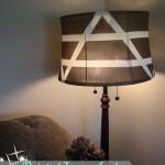 Painted Lampshade Tutorial with LED Power #ledsavings