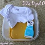 DIY dyed onesies