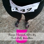 5 things I learned after my first half marathon