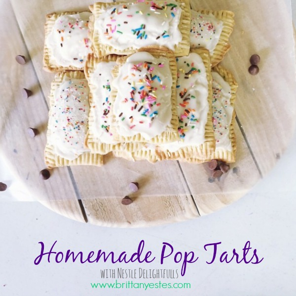 Homemade Pop Tarts with Chocolate Filling - Brittany Estes