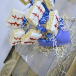 Baseball Rice Krispie Treat bouquet